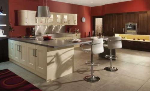 Clonmel Oak Anthracite Mussel Make Kitchens