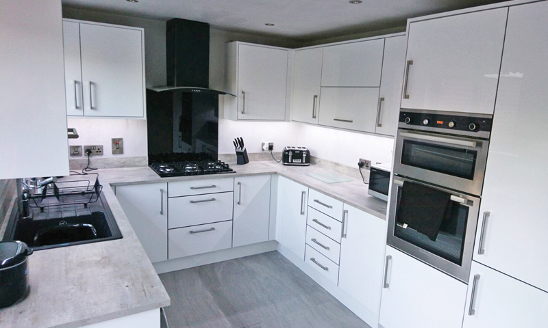 Phoenix White Gloss - Make Kitchens